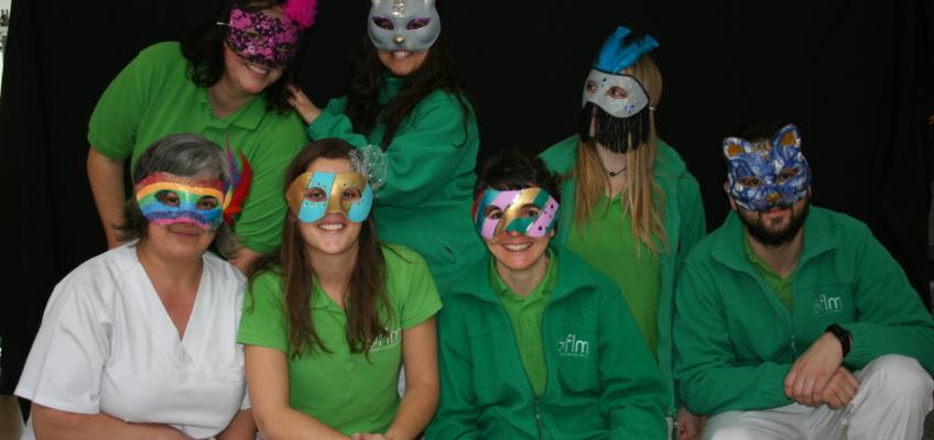 Parte del equipo de Fisioterapia y T. Ocupacional - Carnaval FLM 2018