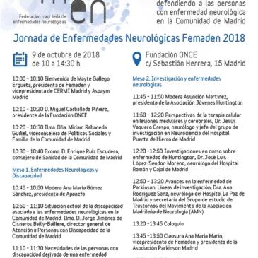 Jornada de Enfermedades Neurológicas FEMADEN 2018 ( 9 de octubre de 2018)