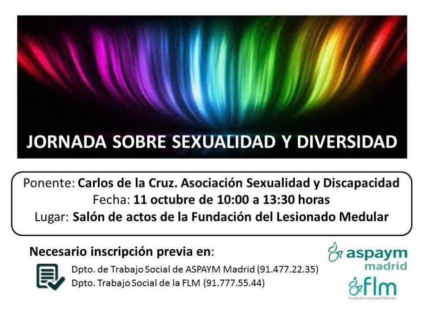 ASPAYM Madrid celebra una jornada sobre Sexualidad y Diversidad
