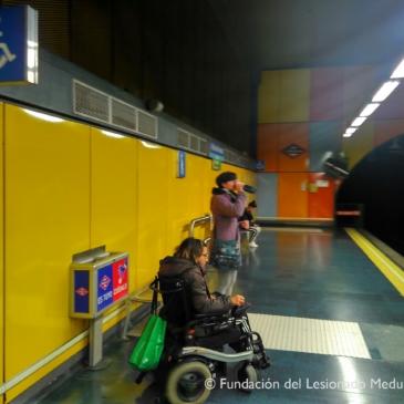Manejo de silla de ruedas en entorno real
