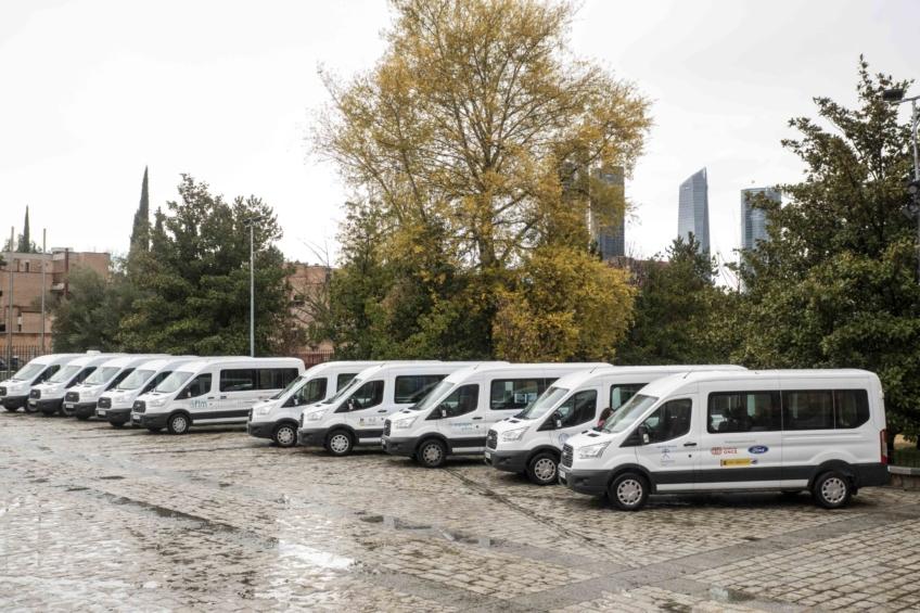 Fundación ONCE hace entrega de la nueva flota adaptada.