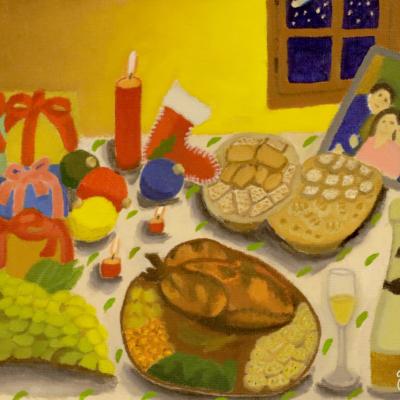 'Mesa de Navidad' de Carmen Oliva (3er Premio)