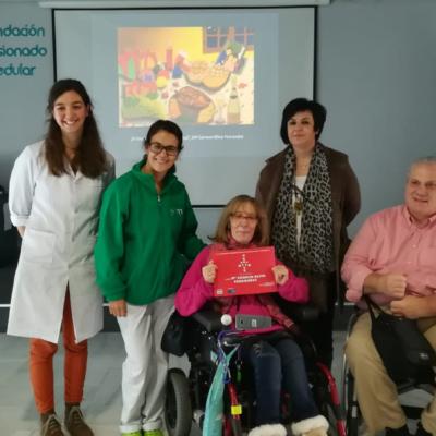 Carmen Oliva (2º premio) con Marta de Salas, Belén Gómez, Susana Martín y M. Ángel García.