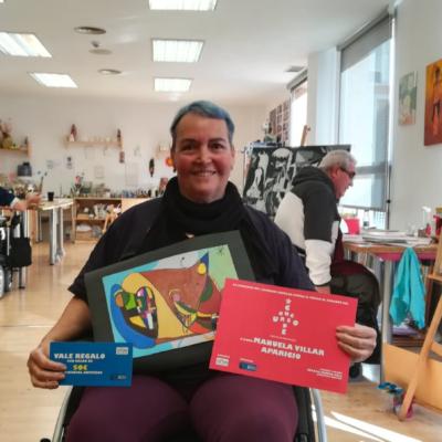 Manuela Villar, ganadora del Concurso de postales 2018