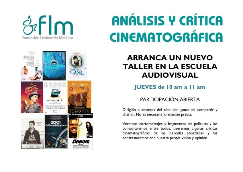 Nuevo Taller de Análisis y crítica cinematográfica.