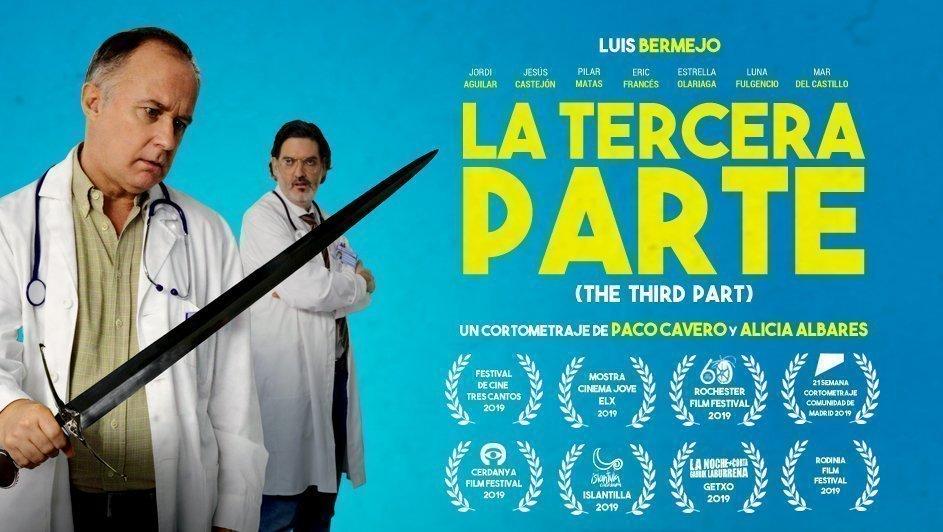 Cartel del corto la Tercera parte, dirigido por Alicia Albares y Paco Cavero