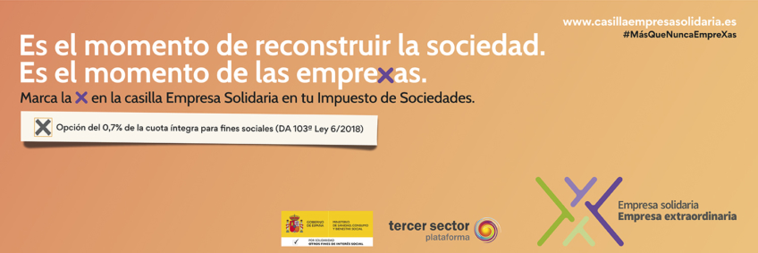 Nos unimos a PREDIF en la campaña para empresas de la 'Casilla Empresa Solidaria'