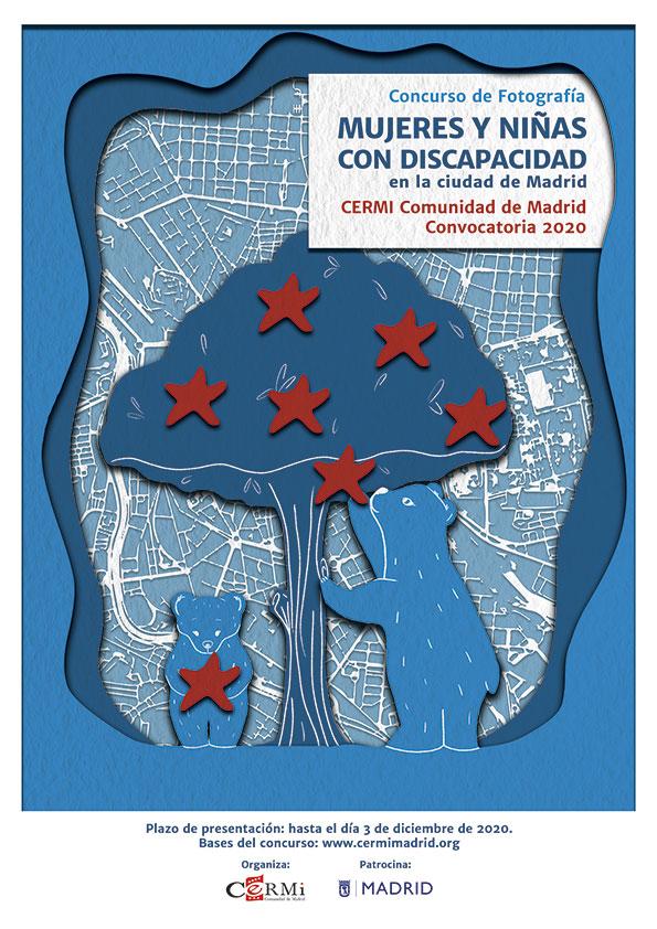 Cartel del concurso de fotografía CERMI Madrid
